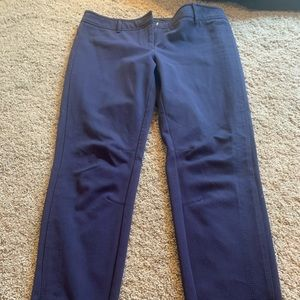 Navy Dress Pants, Ankle Length, Straight leg